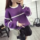 Panel Cable Knit Top