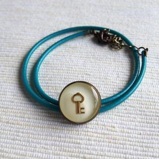 Green Key Double Bracelet One Size