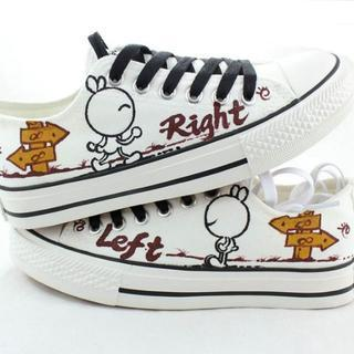 Painted Rabbit Lace-up Canvas Sneakers