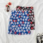 Daisy Print Pencil Skirt