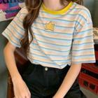 Pocketed Stripe Short-sleeve T-shirt