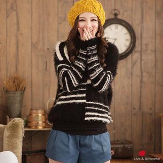 Striped Furry Sweater