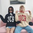 Couple Matching Lettering Hooded Sweatshirt