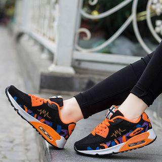 Printed Lace Up Sneakers