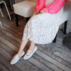 Lace Long Pleated Skirt