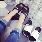 Platform Wedge Mule Sandals