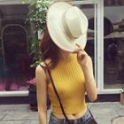 Cropped Halter Knit Top