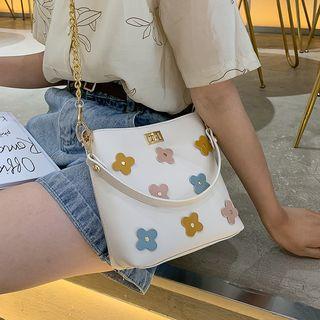 Flower Detail Chain Strap Bucket Bag