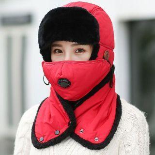 Fleece-lining Earflap Hat