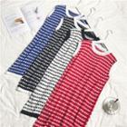 Crew-neck Sleeveless Knitted Dress