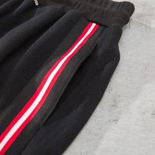 Stripe Trim Drawstring Sweatpants