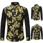 Floral Jacquard Panel Shirt