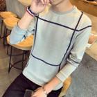 Striped Neoprene Pullover