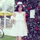 Lace Trim Sleeveless Dress