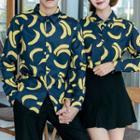 Couple Matching Banana Print Shirt