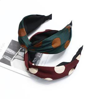 Polka Dot Knot Headband