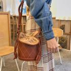 Quilted Mini Bucket Bag Camel - One Size