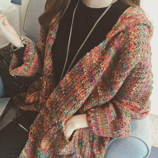 Hooded Chunky-knit Cardigan