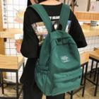 Label Applique Nylon Backpack
