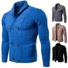 Double-breasted Cable Knit Cardigan