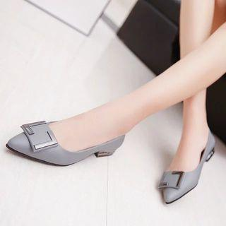 Buckled Pointy Toe Flats
