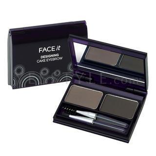 The Face Shop - Face It Designing Cake Eyebrow (#02 Khaki Grey) 4g/0.14oz