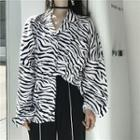 Zebra Patterned Shirt