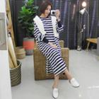 Striped Long Pullover Dress