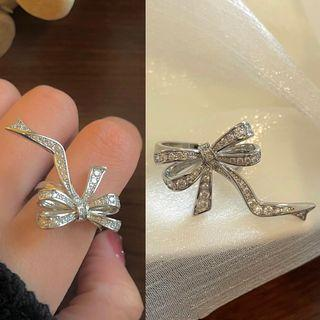 Bow Ring 1552a - Silver - One Size