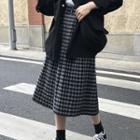 Plaid Midi Accordion Pleat Skirt