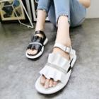 Frilled Genuine Leather Sandals