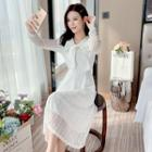 Plain Lace Mesh Dress