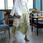 Floral Tiered Chiffon Maxi Skirt