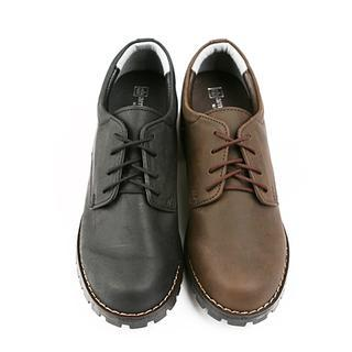 Faux-leather Oxfords