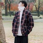 Plaid Twill Knit Jacket