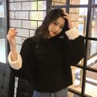 Color-block Round Neck Loose-fit Sweater