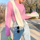 Pastel Color See-through Sweater