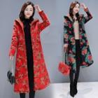 Hooded Floral Coat