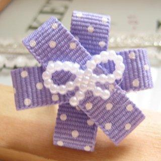 Dotted Handmade Bow Ring