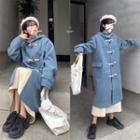 Oversize Woolen Toggle Coat