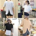 Back Split Short Sleeve T-shirt