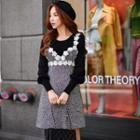 Wool Blend Rosette Jumper Dress