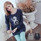 Deer Print Long-sleeve T-shirt