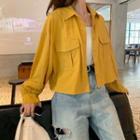 Button Jacket / Plain Camisole