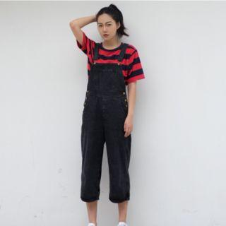 Cropped Wide Leg Dungaree
