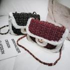 Tweed Twist Lock Crossbody Bag