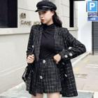 Plaid Blazer / Skorts