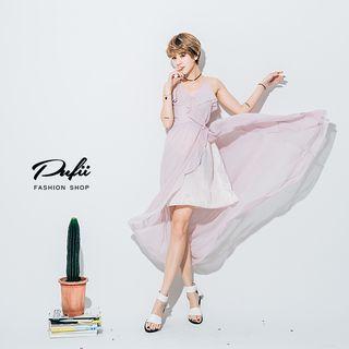 Strappy Slit Midi Dress