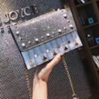 Studded Sequined Shoulder Bag