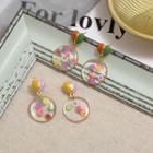Acrylic Fruit Disc Dangle Earring